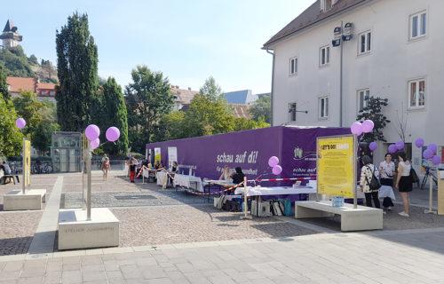 """Die Erlebnisausstellung """"Psyche erleben"""" beim """"Aktionstag zur seelischen Gesundheit"""" in Graz"""